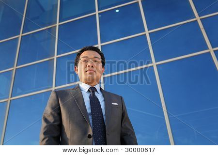 Confidence Businessman Front Office