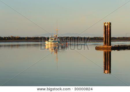 Fishboat Returning, Steveston Harbor Morning