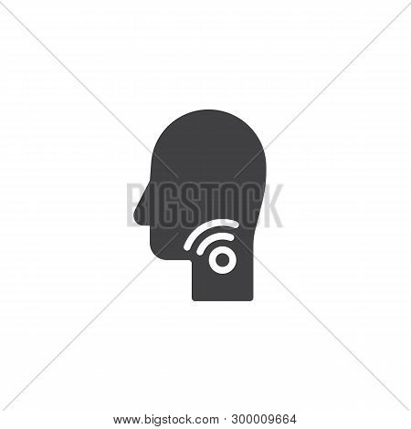 Sore Throat Vector Icon. Filled Flat Sign For Mobile Concept And Web Design. Laryngitis Glyph Icon.