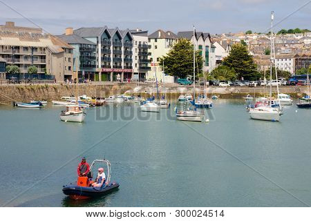 Penzance, Cornwall, England - July 24, 2018: United Kingdom, South West England, Cornwall, View Of P