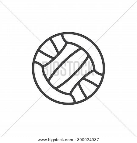 Volleyball Ball Line Icon. Linear Style Sign For Mobile Concept And Web Design. Sport Ball Outline V