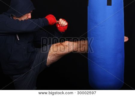 Fighter In A Training Moment