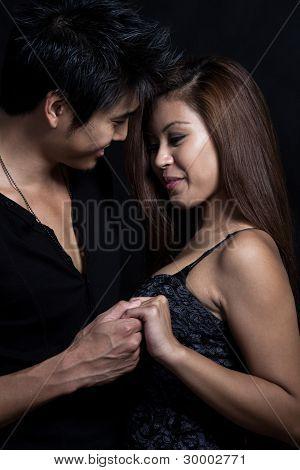 Cute Asian Young Couple