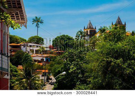 Olinda, Pernambuco, Brazil: The Historic Streets Of Olinda In Pernambuco, Brazil With Its Cobbleston
