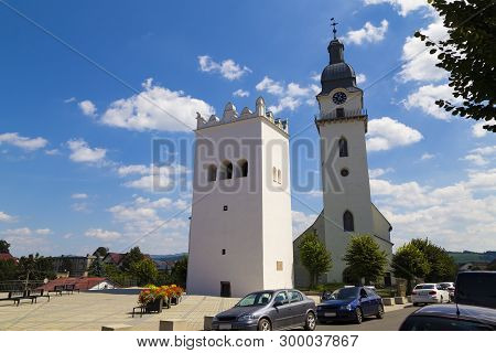 13.08.2018. Historical Center Of Old Town Spisska Bela. Ancient Church Of St. Anthony The Hermit And