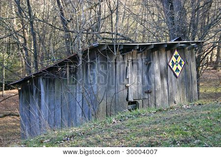 Shed With Quilt Square