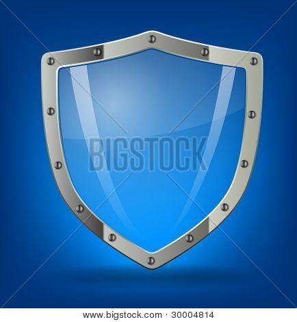 Shield symbol icon illustration