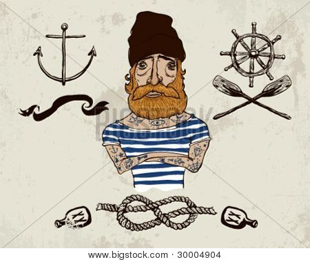 Tattooed sailor