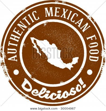 Authentic Mexican Food Graphic