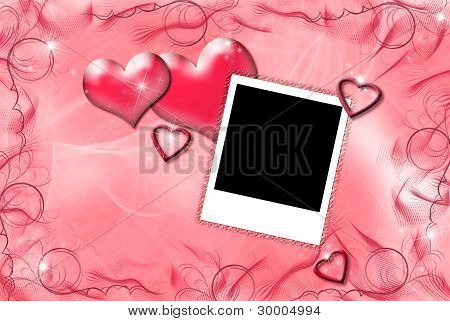 hearts and photo frame