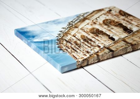 Canvas Print. Photo With Gallery Wrap Method Of Canvas Stretching On Stretcher Bar. Photography With