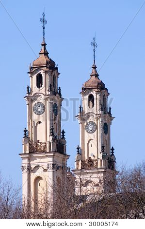Baroque  Style Church Towers