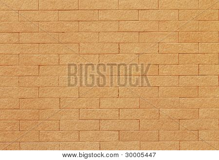 Brick wall of sand