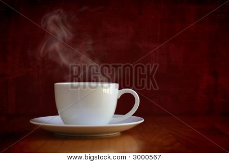 Steaming White Cup