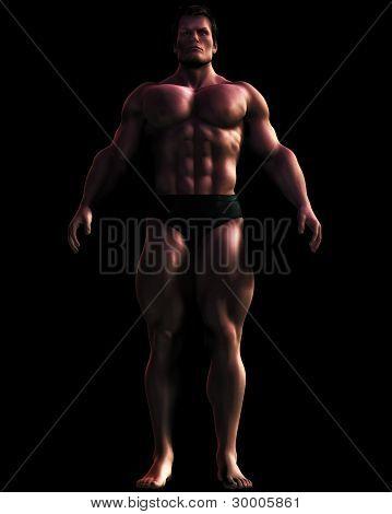 Illustration Of Massive Male Bodybuilder