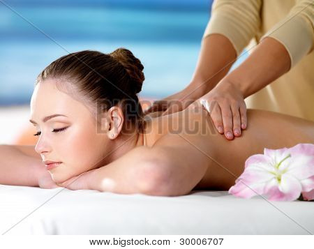 Spa Massage For Young Beautiful Woman