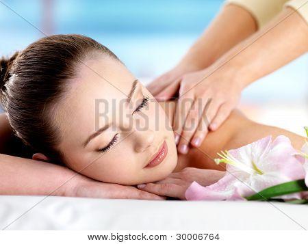Massage For Shoulder Of Girl
