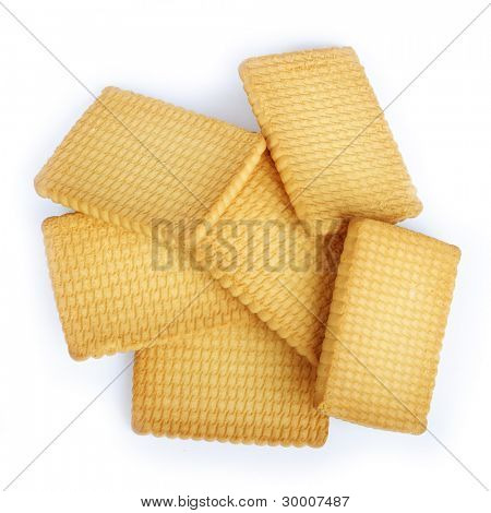 Crackers isolated on a white background