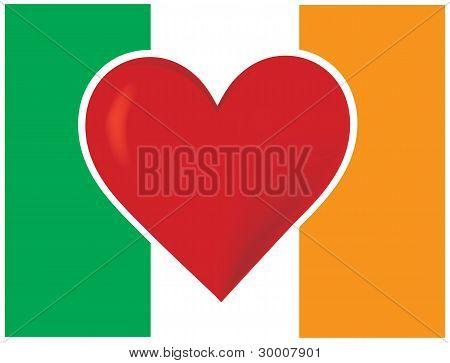 Heart Irish Flag