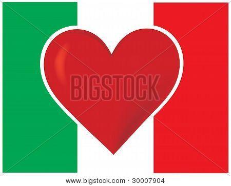 Heart Italy Flag