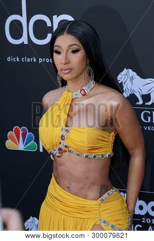 Cardi B arrives at the 2019 Billboard Music Awards at the MGM Grand Arena in Las Vegas, NV on May 1, 2019.