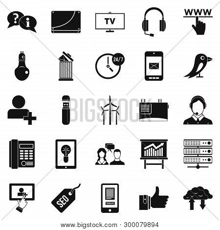 Negotiation Icons Set. Simple Set Of 25 Negotiation Icons For Web Isolated On White Background