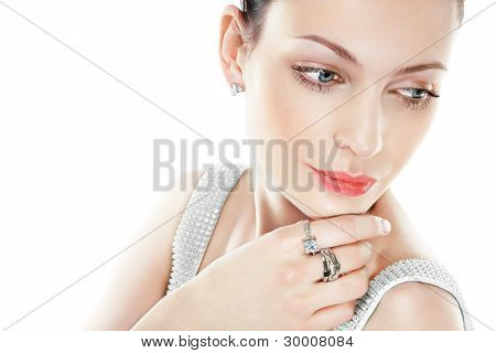 Beautiful woman with jewellry