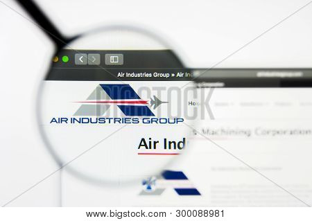 Richmond, Virginia, Usa - 8 May 2019: Illustrative Editorial Of Air Industries Group Website Homepag