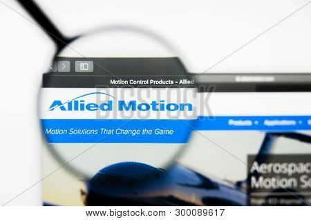 Richmond, Virginia, Usa - 8 May 2019: Illustrative Editorial Of Allied Motion Technologies Inc Websi