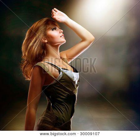 Fashion Dancing Girl. Disco