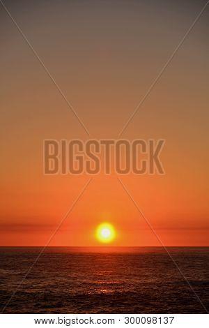 Sunset , Atlantic Ocean , Yellow And Golden , Silleiro Cap