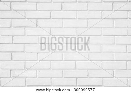Wall white brick wall texture background. Brickwork or stonework flooring interior rock old pattern clean concrete grid uneven bricks design stack. poster