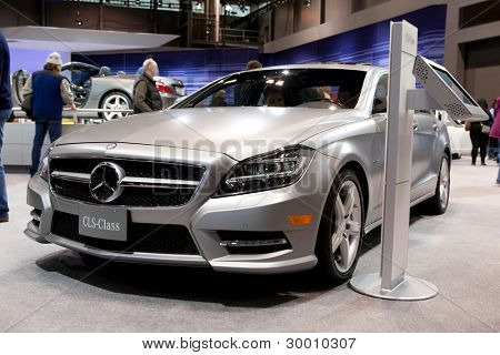 CHICAGO - FEB 12: The 2013 Mercedes CLS on display at the 2012 Chicago Auto Show. February 12, 2012 in Chicago, Illinois.