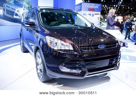 CHICAGO - FEB 12: The 2013 Ford Escape on display at the 2012 Chicago Auto Show. February 12, 2012 in Chicago, Illinois.