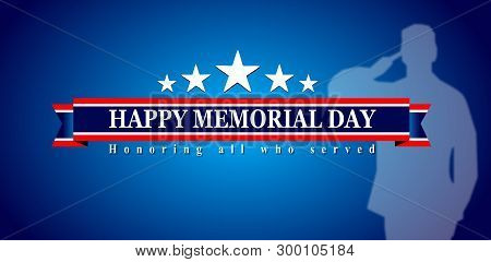 Happy memorial day, veterans day of usa poster