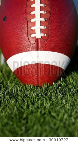 American Football close up on Turf