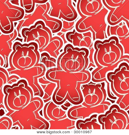 Teddy-bear seamless background
