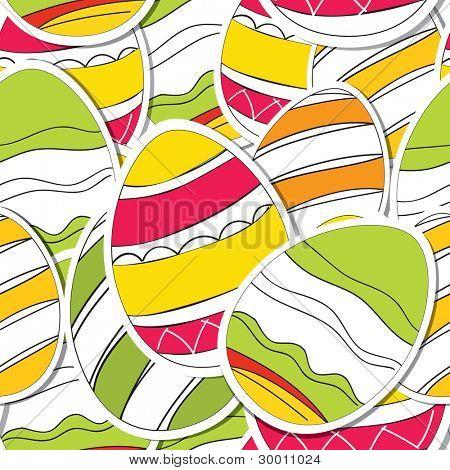 Ornamental Easter eggs seamless texture