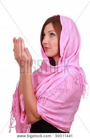 muslim girl prays