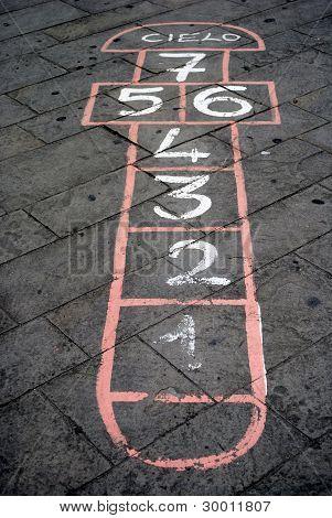 vintage street game for children