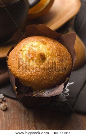 Homemade Cinnamon Muffins With Coffe
