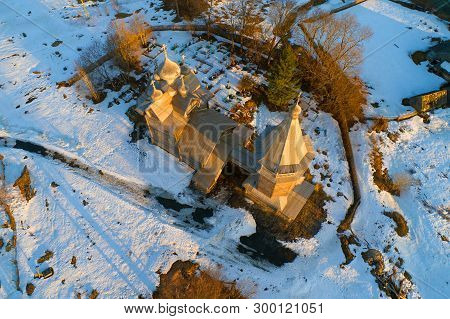 The Old Wooden Church Of Dmitry Solunsky Of The Myrrh-stream (1783) On April Evening (shooting From