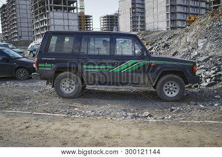Kazakhstan, Ust-kamenogorsk - 4 May, 2019. Isuzu Trooper In The Parking Lot.