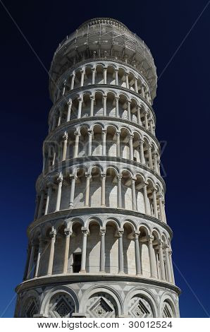 The leaning tower (Pisa)