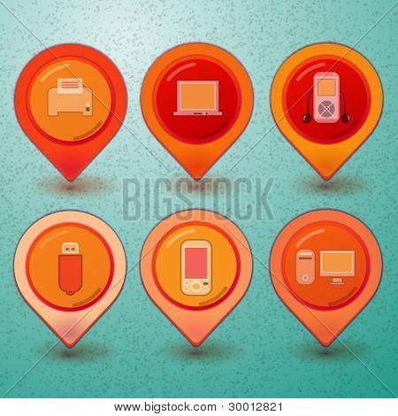 Web Icon Design-Element, Vektor