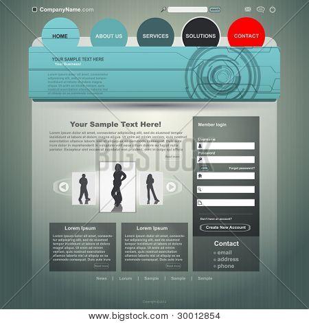 Web site design template, vector