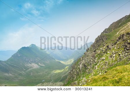 Summer mountain landscape in the Romanian Carpathians