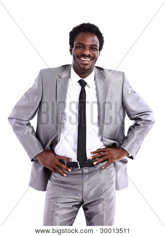 Portrait of a satisfied young African American businessman
