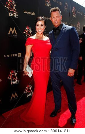 PASADENA - May 5: Lisa Martsolf, Eric Martsolf at the 46th Daytime Emmy Awards Gala at the Pasadena Civic Center on May 5, 2019 in Pasadena, California