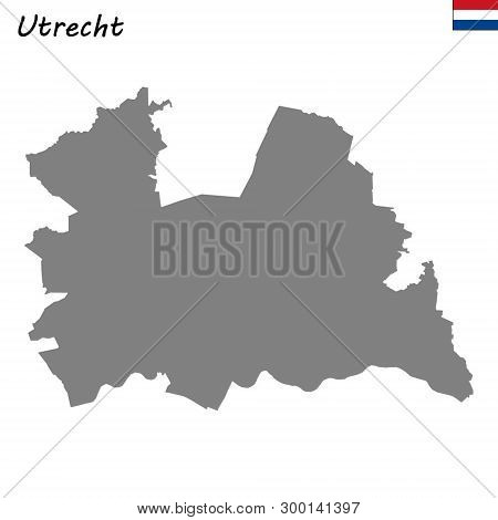 High Quality Map Province Of Netherlands. Utrecht